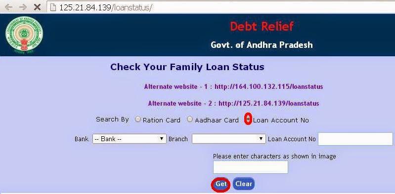 Loan status of farmers