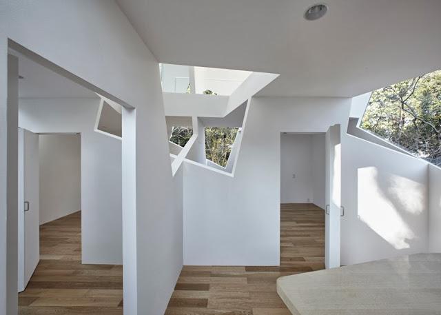 Yuusuke Karasawa Tagli Di Luce Nella Casa Cubo Di Bousou In Giappone