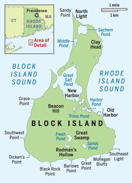 Block Island Rhode Island From Long Island