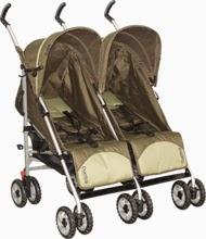 Carrinho de Bebê Gêmeos Burigotto Duetto Alumínio 4 Posições Lateral Verde