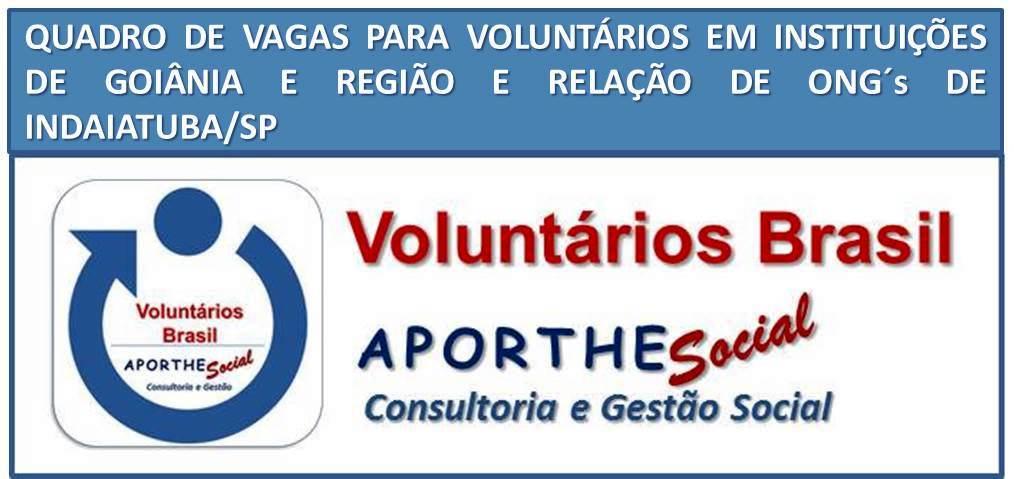 Voluntários Brasil - O site do voluntariado brasileiro