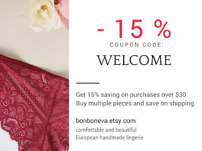 bonboneva handmade lingerie shop coupon code