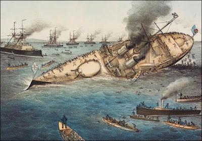 Sinking of battleship Victoria 1893