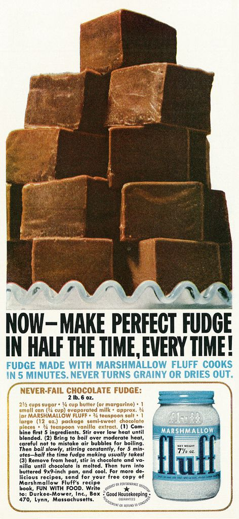 Dying for Chocolate: Marshmallow Fluff (Creme) Brownies: 2 Vintage Ads ...