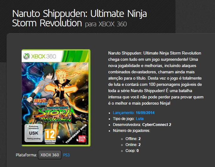 naruto shippuden ultimate ninja storm revolution xbox 360 rgh