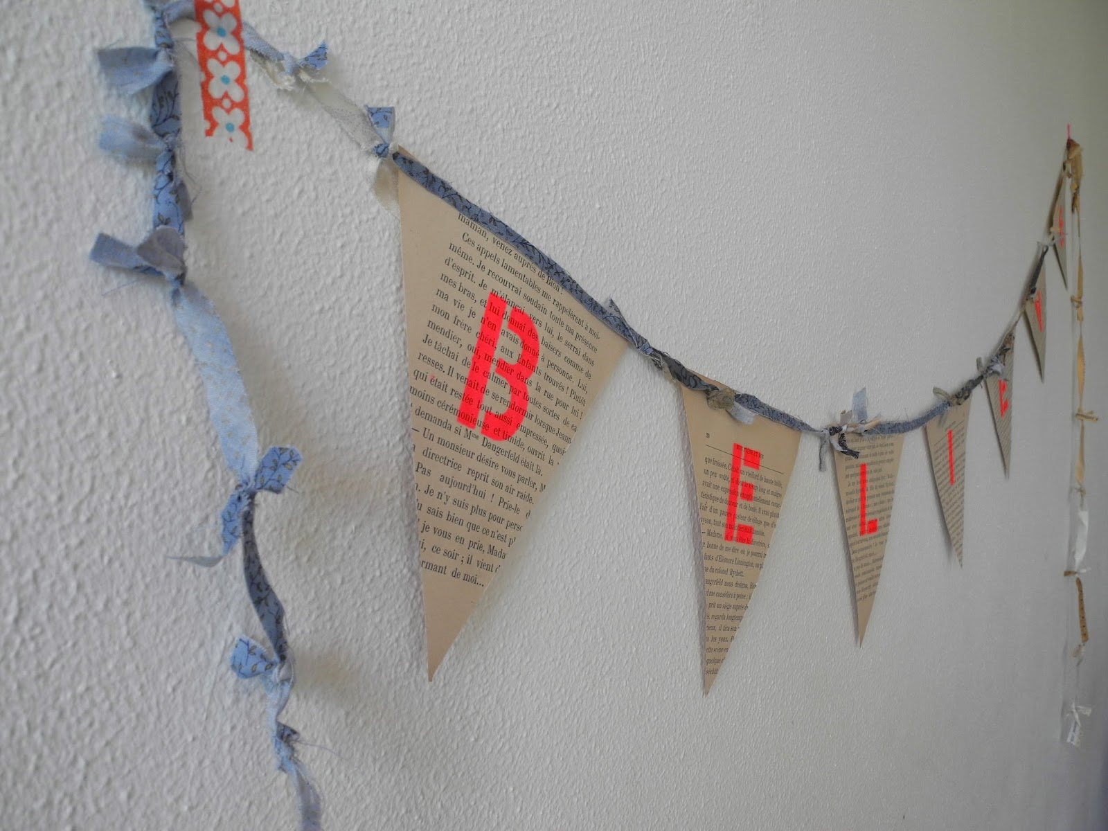 one bunting away diy 6 paper crafts using old books