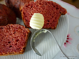 Beet Sour Cream bread rolls/ buns