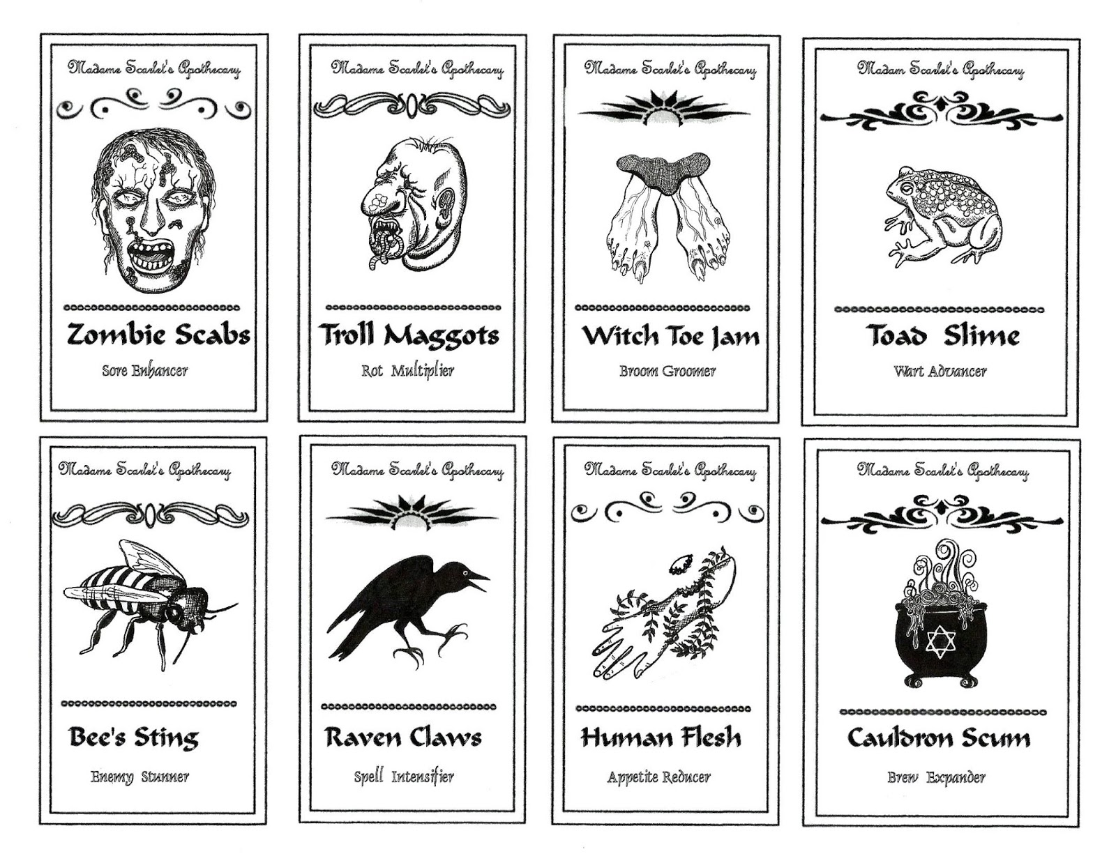 profusion art apothecary labels