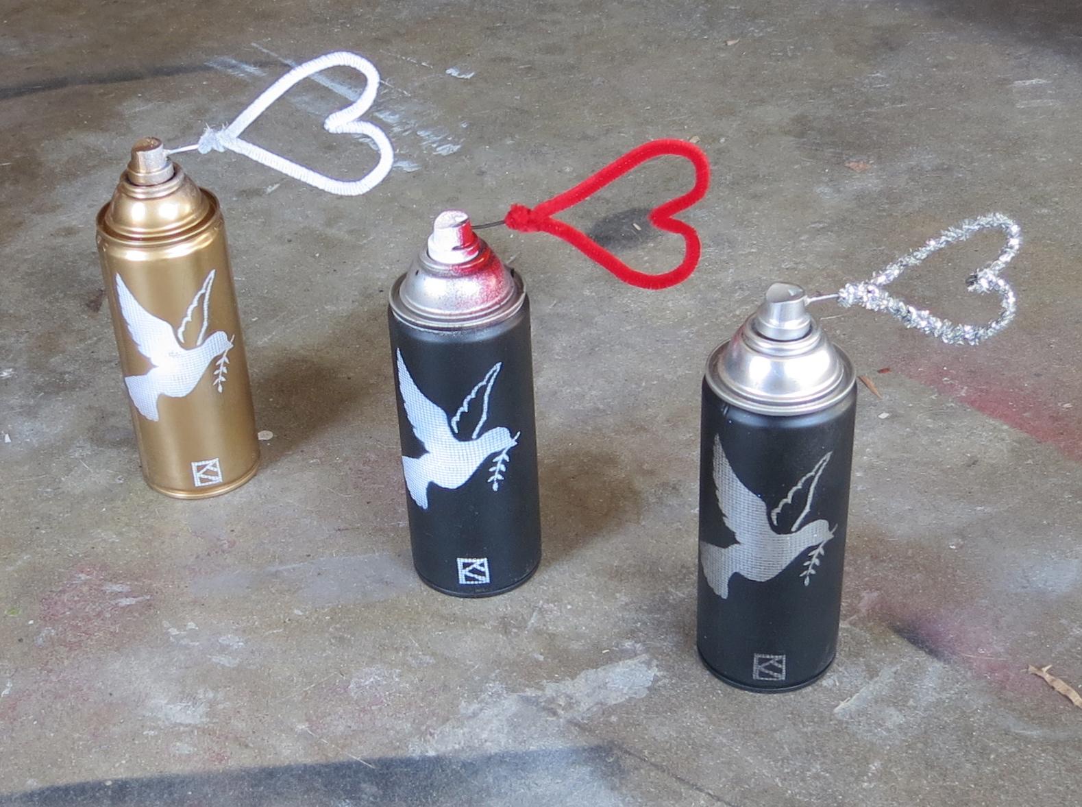 Melroseandfairfax Teacher Peace Through Paint Spray Cans Updated
