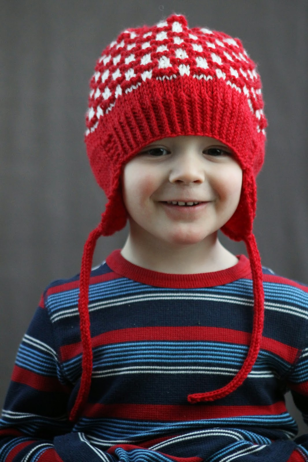 Balls to the Walls Knits: Double Pom Earflap Hat
