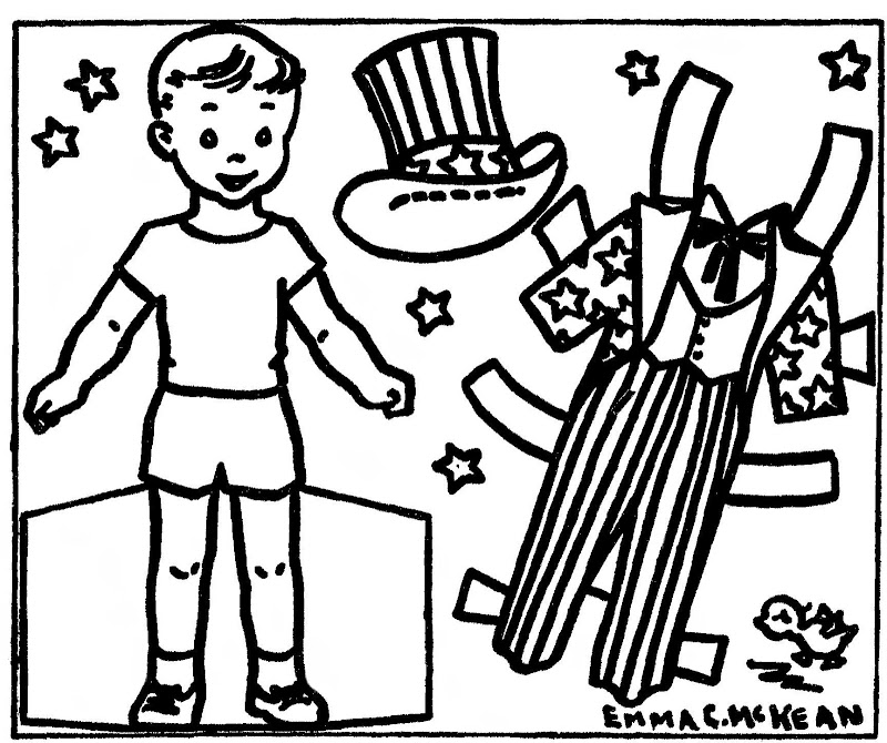 June 21, 1961. Another Uncle Sam paper doll by Emma McKean. title=
