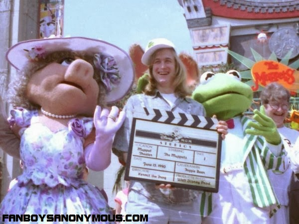 John Henson, son of Muppets creator Jim Henson with the Muppets at Disney World