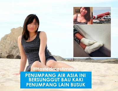 Wanita ini komplen Air Asia isu bau kaki busuk dalam pesawat
