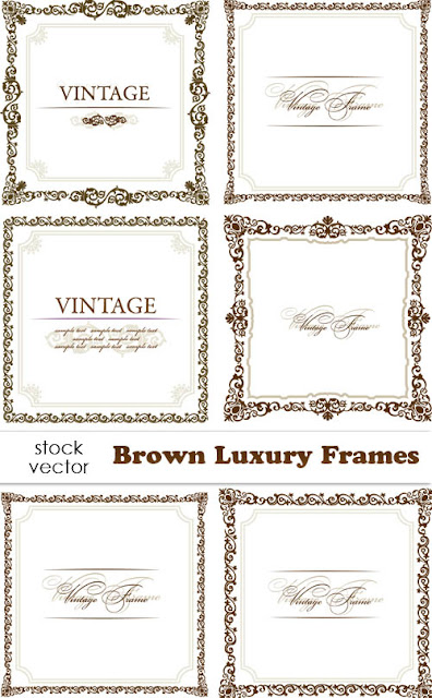 Vector Stock - Brown Luxury Frames