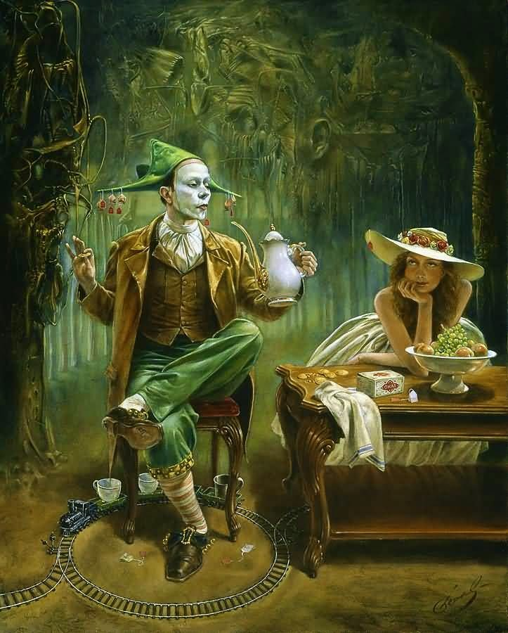 18-Michael-Cheval-Tea-for-One-Surreal-Absurdist-Paintings-www-designstack-co