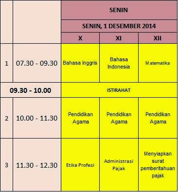 Jadwal Ulangan Semester Ganjil Tp 2014 2015 Smk Mutiara Bangsa Tiga