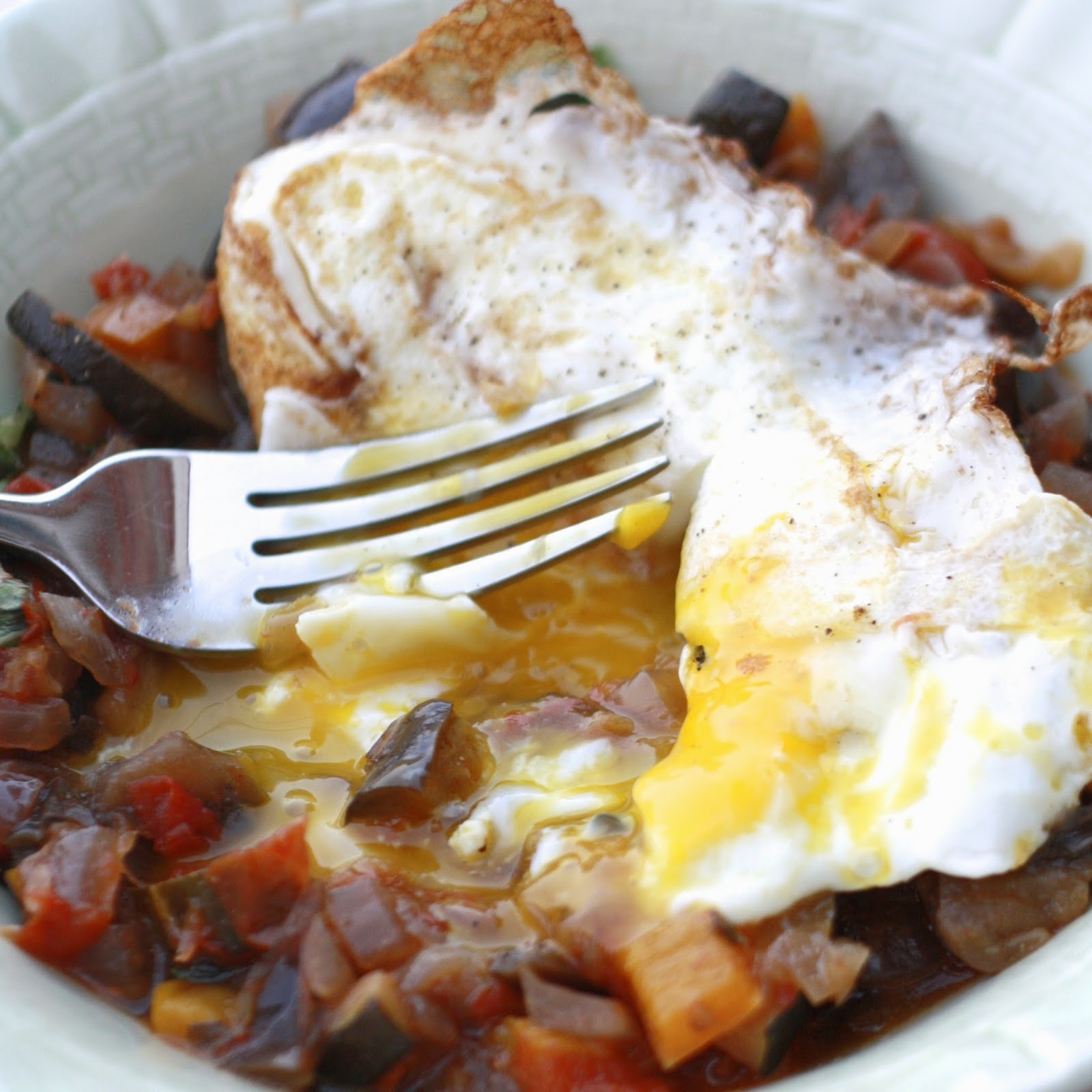 Ratatouille with Fried Eggs | The Sweets Life