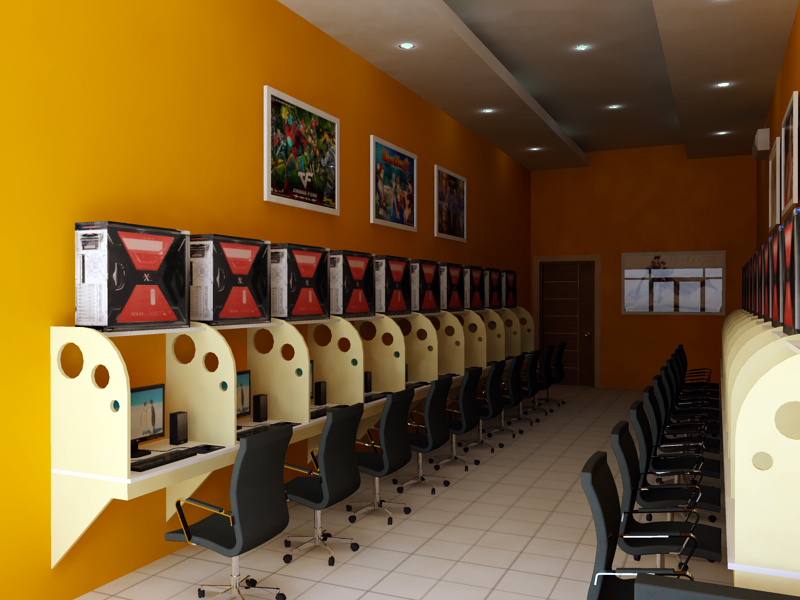 Adil punya blog internet cafe concept - Internet shop design ...
