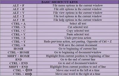 underline shortcut key in pdf