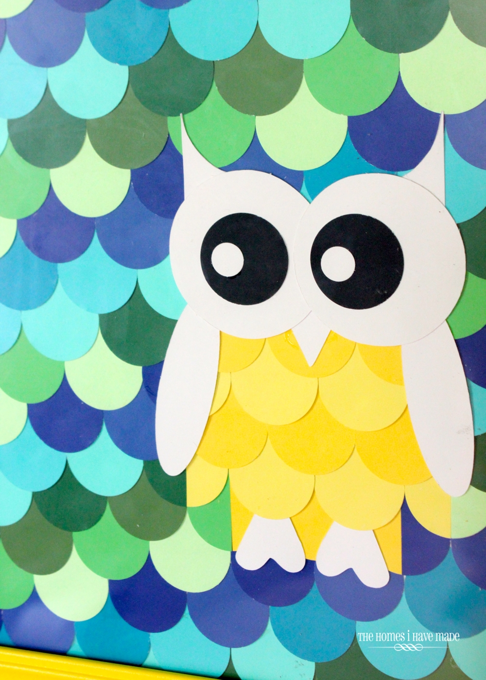 Owl Paint Chip Art {Little Boy Room Project} | The Homes I Have Made