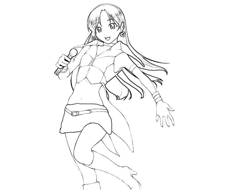 printable-idolmaster-chihaya-kisaragi-nice-coloring-pages
