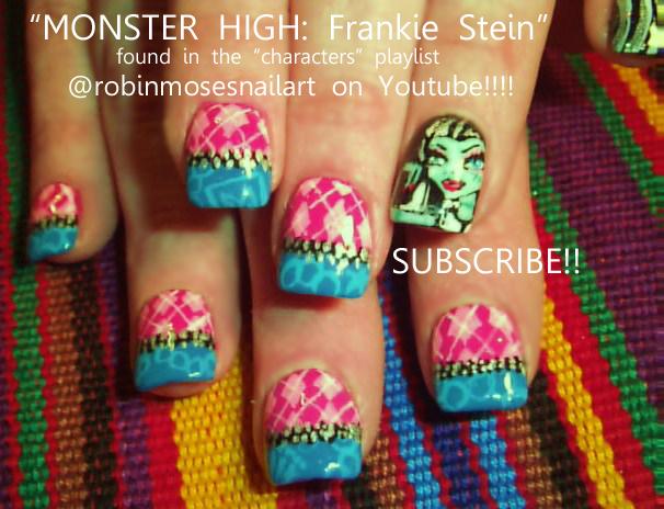 Nail Art Design Monster High Nail Monster High Frankie Stein Nail