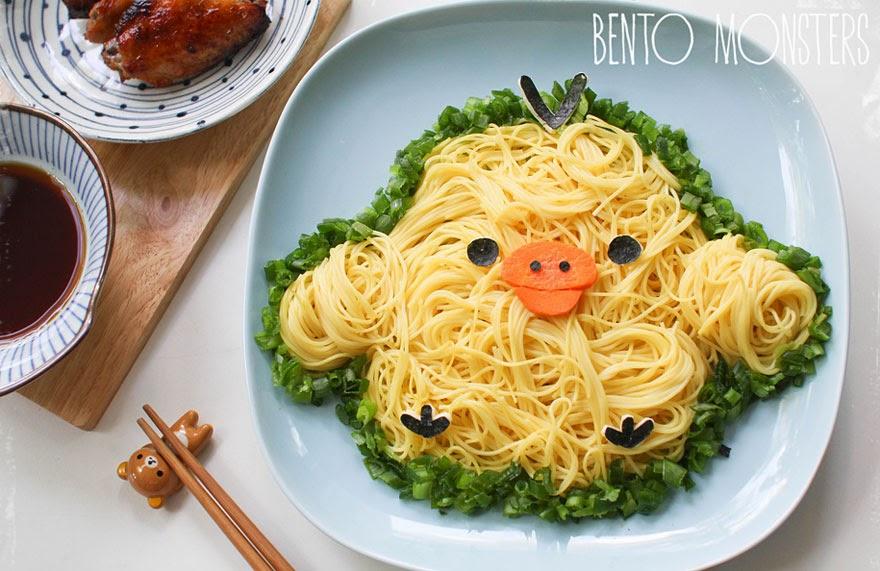 Bento, şekilli yemek