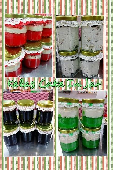 Kelas DIY Cake in Jar RM350 perhead