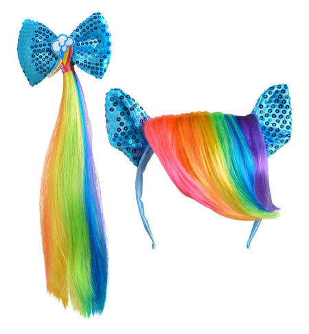 MLP Rainbow Dash Adult Costume Headband and Tail