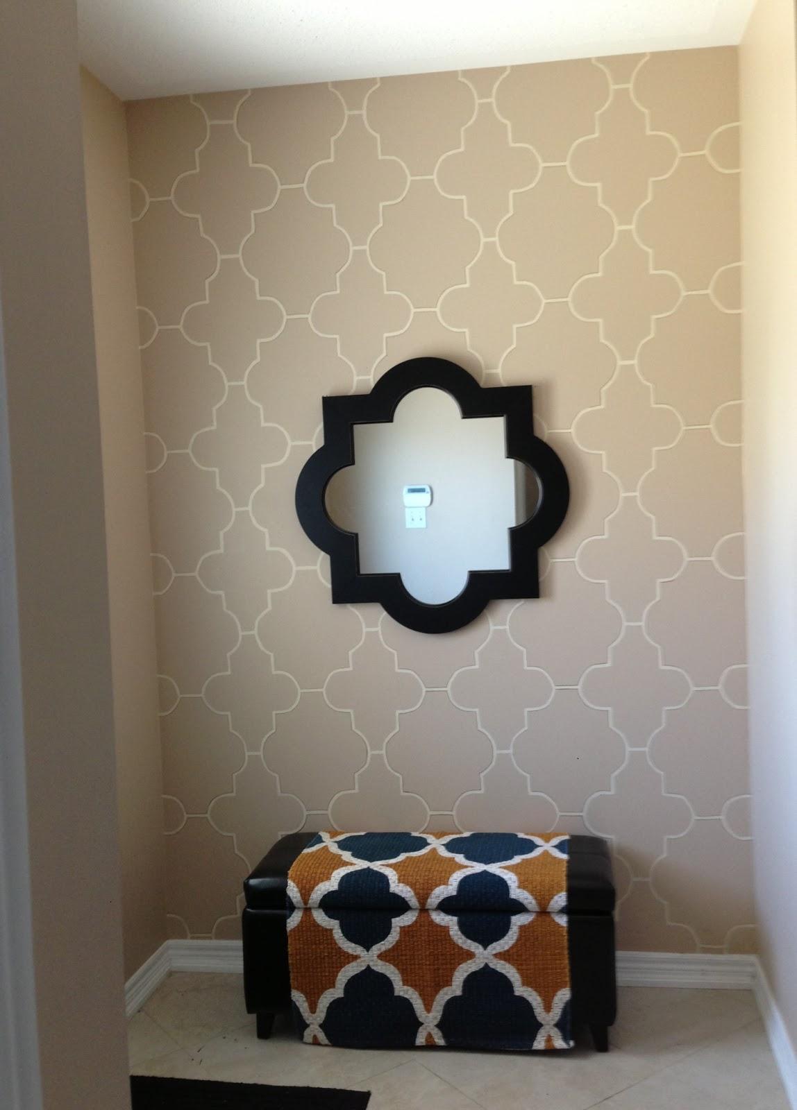 Home Sense Foyer : Azzure guest post stencil wall