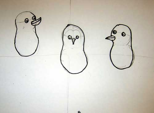 How to Draw a Emperor Penguin Step by Step Step 3 Draw The Penguins