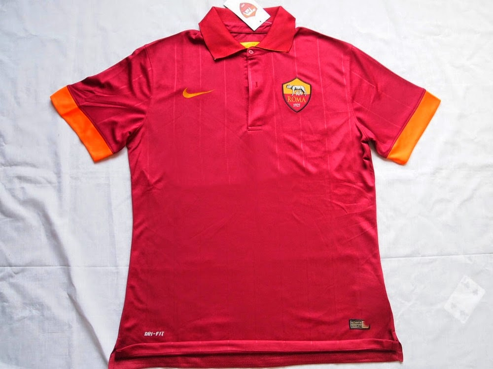 Nike unveil classy first effort for AS Roma 2014 2015 home kit