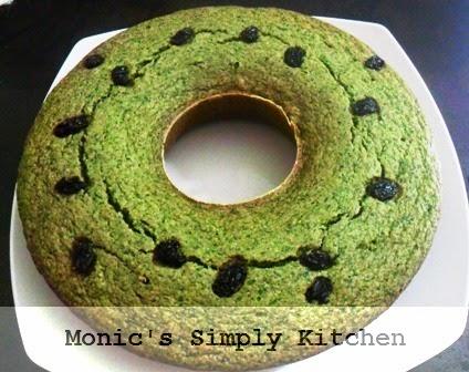 resep cake bayam oatmeal kismis