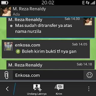 Konfirmasi pembayran clutch bag oleh M Reza Renaldy toko online jersey bola terpercaya lokasi di jakarta dan menjual clutch bag harga murah