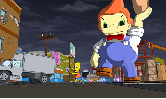 bartruns lardlad+the+simpsons+game+xbox+360 Simpsons games can be rather hit or miss, but the most recent one was pretty ...
