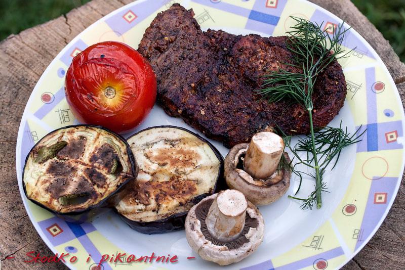 Gotowy grillowany obiad