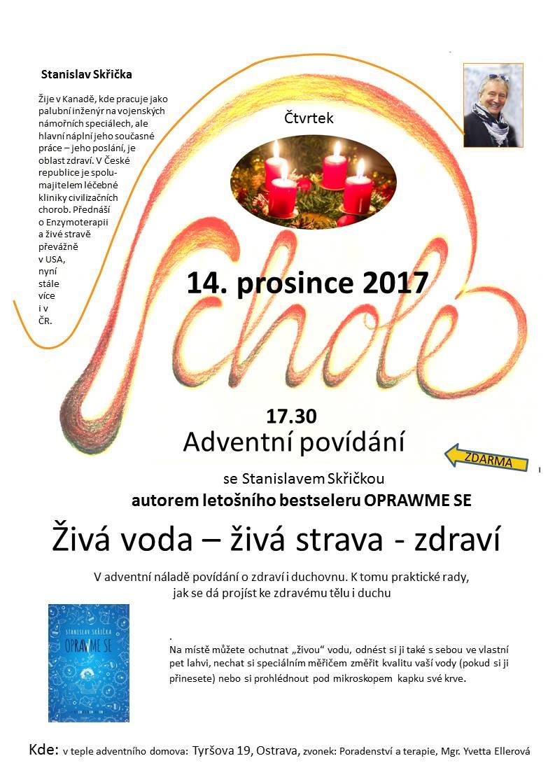 Adventní povídání se S. Skřičkou - autorem bestseleru OPRAWME SE