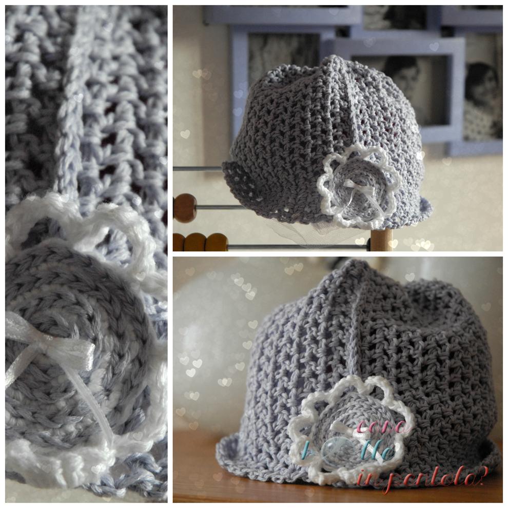 baby crochet hat hand made