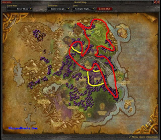 Where to find Twilight Jasmine in Twilite Highlands Herbalism Farming Map Locations