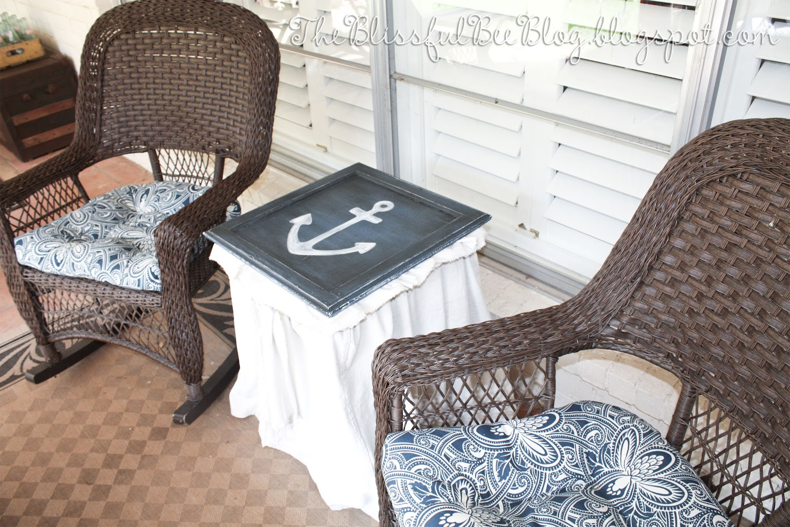 Hand Painted Anchor Table