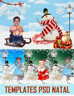 Montagem photoshop - fotos de natal