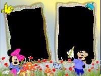 Moldura grátis Minnie para duas fotos
