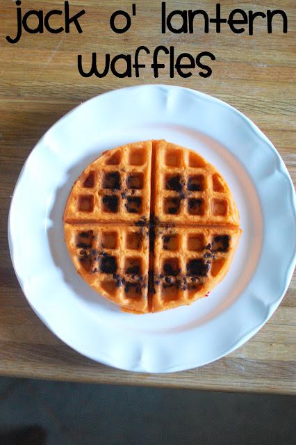 Jack O' Lantern Waffle