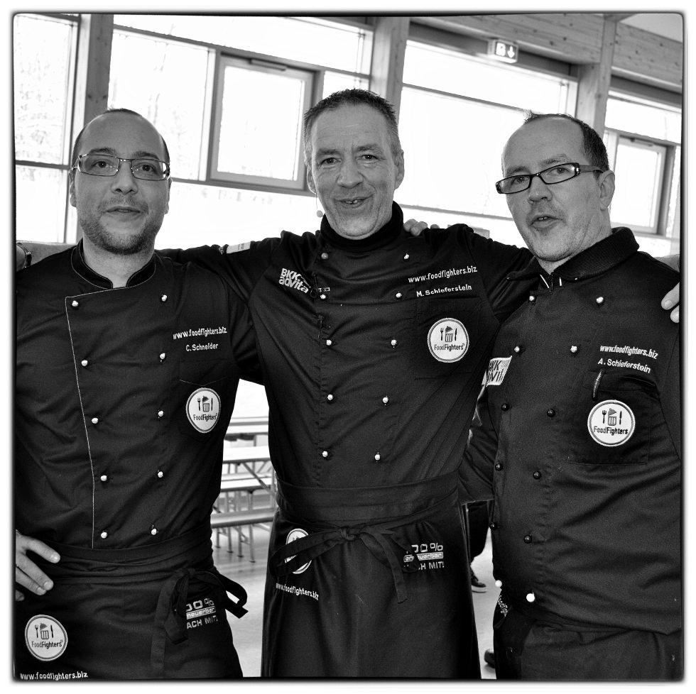 Die FoodFighter Michael Schieferstein (M.), Andreas Schieferstein (r.) und Christian Schneider.