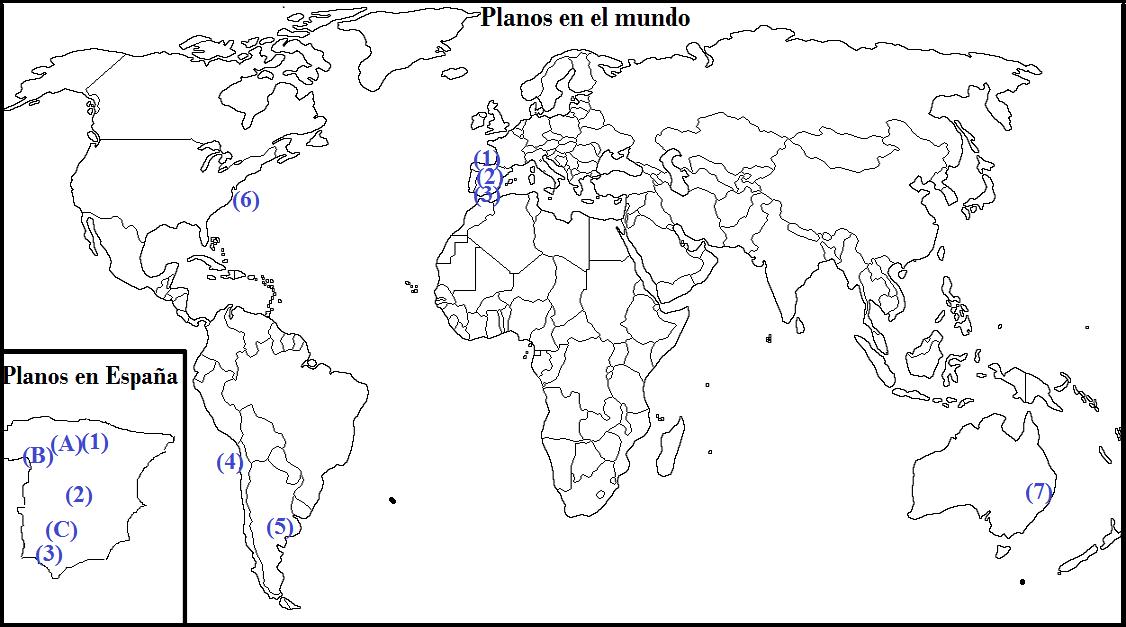 Las historias de Doncel Plano urbano lineal Tipologa de planos