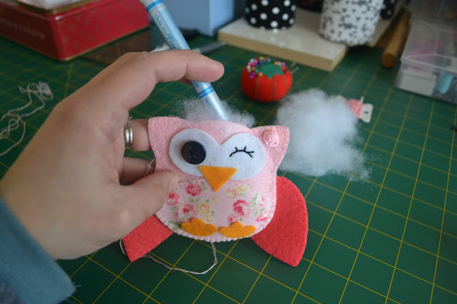 Easy felted owl