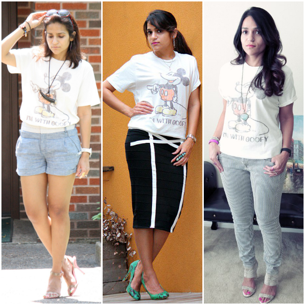 Three Ways To Style Graphic Tee, Tanvii.com