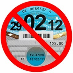 DVLA are doing away with the paper tax disc.  This picture shows a tax disc with a red line through it from weloveanycar.com blogg