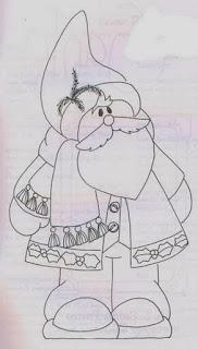 desenho papai noel para pintar