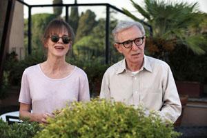 Judy Davis y Woody Allen en A Roma con amor